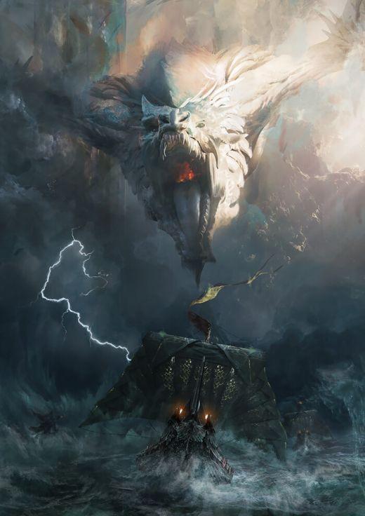 Adam Burn artstation deviantart arte ilustrações fantasia terror ficção sombrio