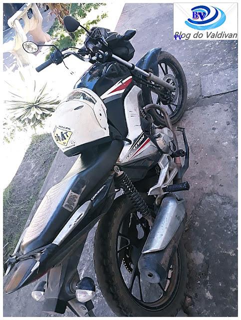Chapadinha - Agentes de trânsito encontram moto com chassi adulterada após roubo em Timon-MA