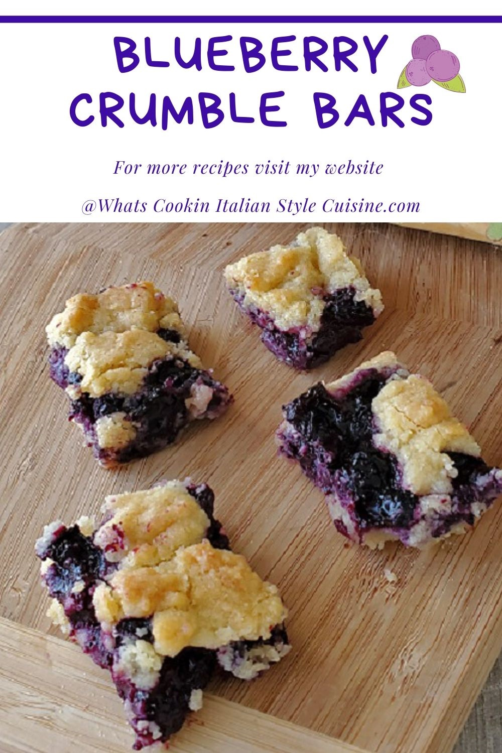this is a blueberry crumble bar pin for later