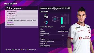 PES 2021 Faces Iván Santillán by Dev