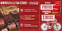 Logo Rinfresca la tua estate con Coca-Cola e vinci 8 Ghiacciaie e 1 bicicletta Coca-Cola