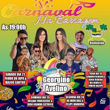 Programação oficial do Carnaval da Barragem 2020