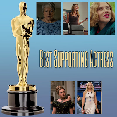 Photo: Margot Robbie, Laura Dern, Florence Pugh, Scarlett Johansson and Kathy Bates fight to win Best Supporting Actress on Sunday, Feb. 8, 2020 at the Oscars