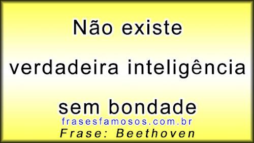 Não Existe Verdadeira Inteligência sem Bondade - Beethoven