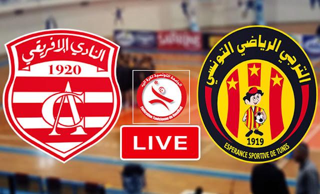 Match Taraji vs Club Africain Live Streaming en handball
