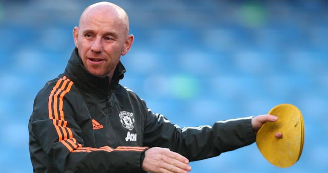 Nicky Butt during his time as academy coach at Man United