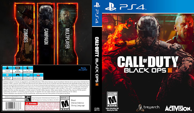 Capa Call Of Duty Black Ops 3 PS4