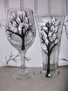 make hand-painted wine glasses