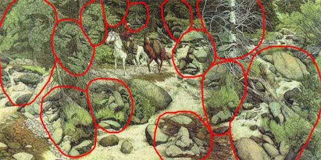 Você consegue encontrar os 13 rostos escondidos nesta imagem. Será que você é capaz?