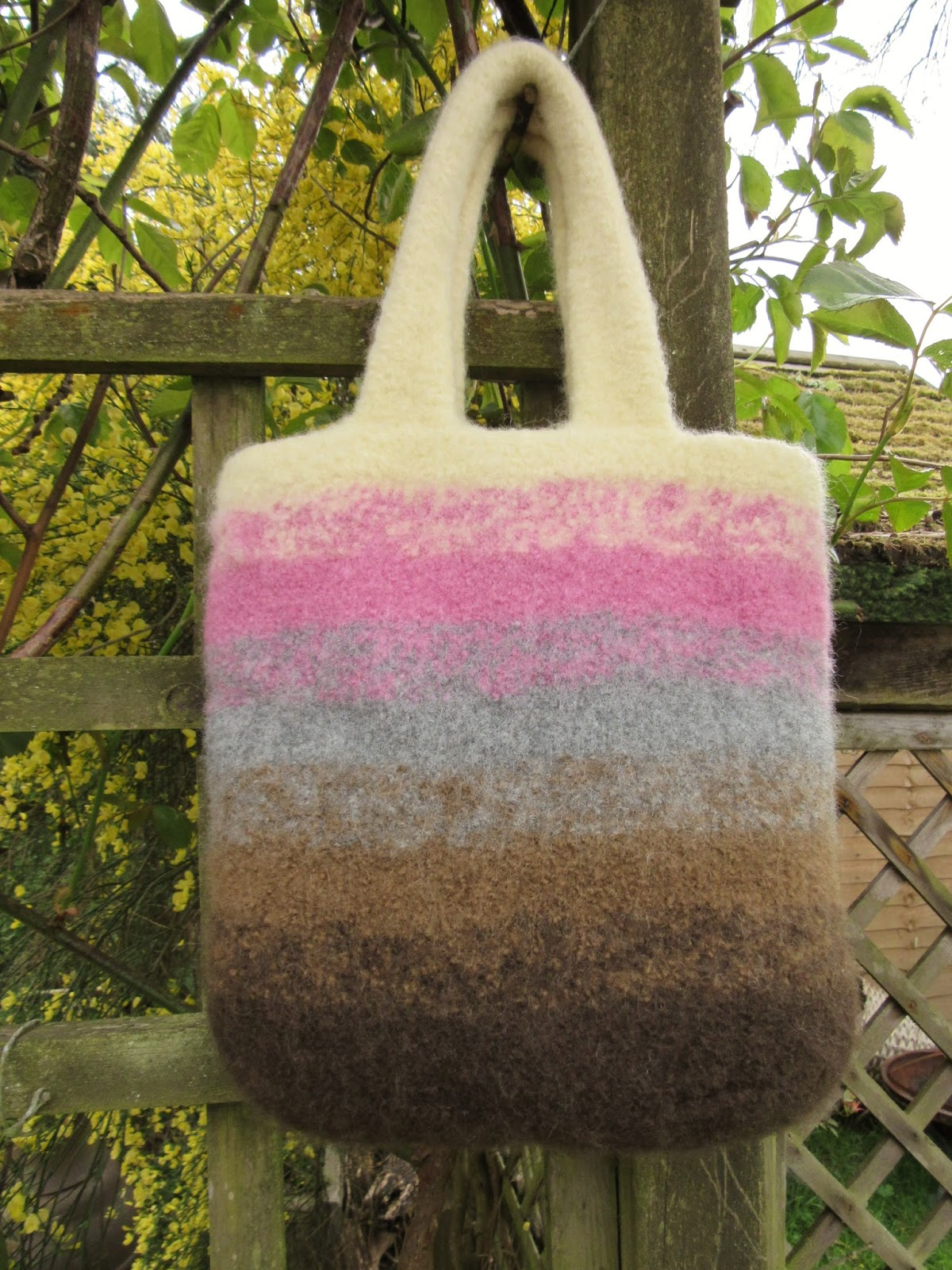 Ombre felted bag