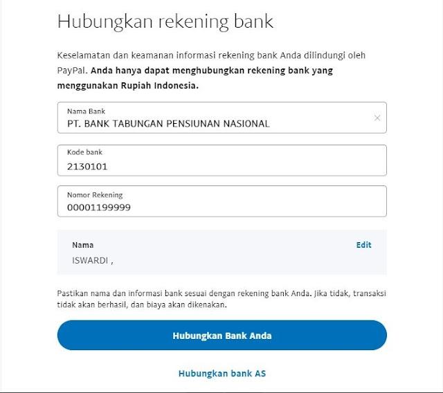 Cara Withdraw PayPal ke Jenius Bank BTPN Bebas Fee