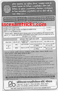 MP Police Subedar ASI Recruitment 2017
