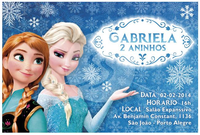 Convite de aniversario frozen porto alegre - Convite Aniversário Frozen