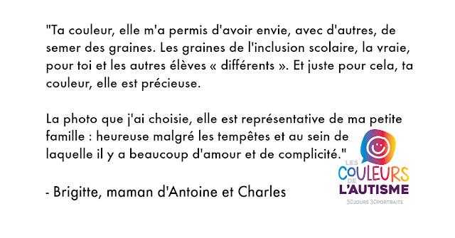 Autisme, la couleur d'Antoine et sa famile #30couleurs