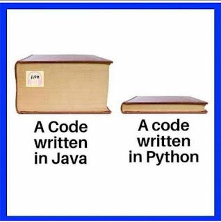 Coding in Java vs Python Meme