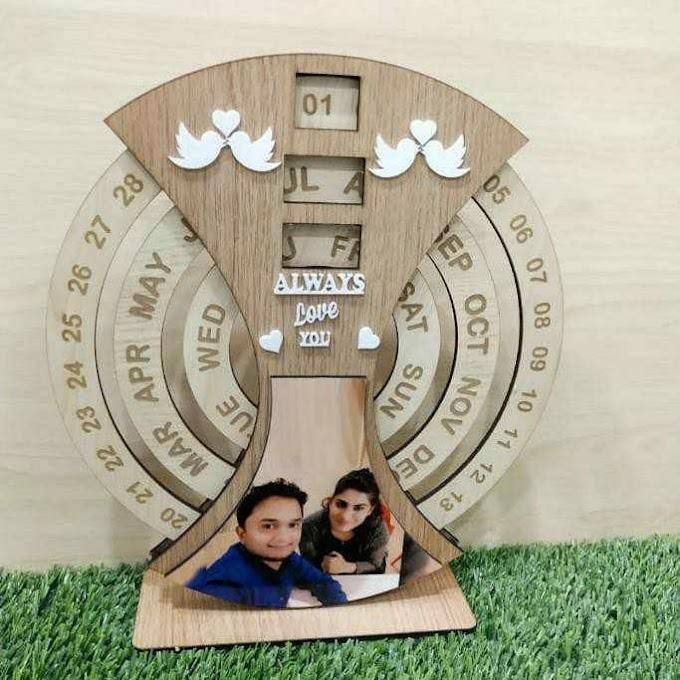 *Customised wooden calendar-*