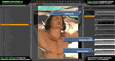 Wound Makeup Artist 3Delight for Genesis 3 Male