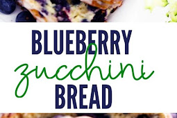 BLUEBERRY ZUCCHINI BREAD WITH A LEMON GLAZE