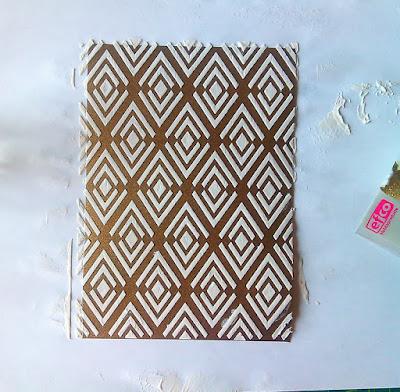 МК по открытке: текстурная паста и глиттер.