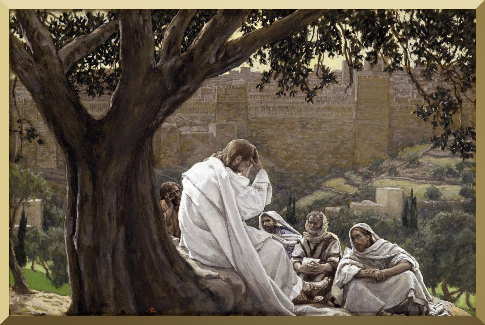 """The Prophecy of the Destruction of the Temple"" -- by James Tissot"