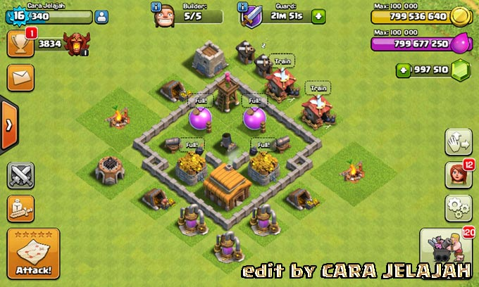 Desain Base Hybrid Clash Of Clans Town Hall 3 Update Terbaru 4