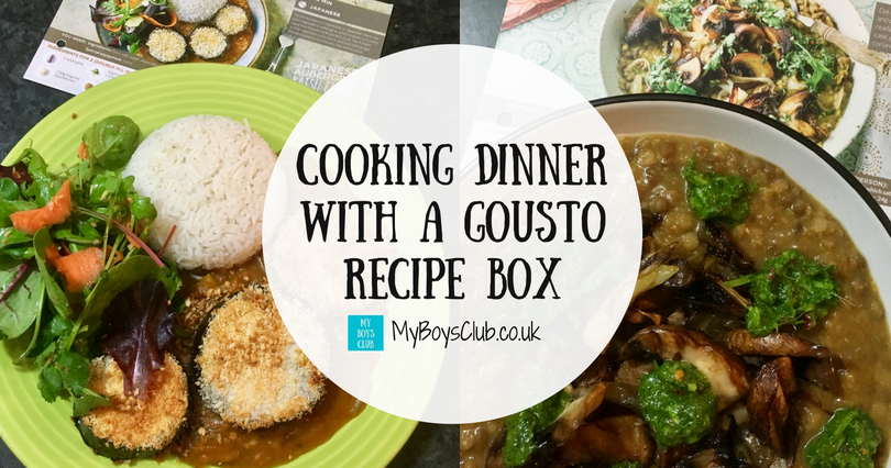 My boys club cooking dinner with a gousto recipe box review forumfinder Choice Image