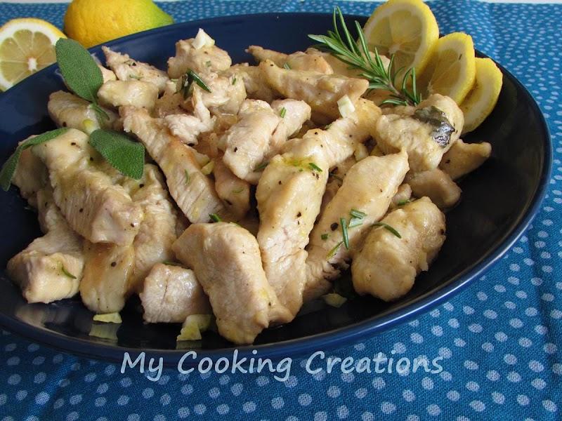 Кремообразни хапки от пуешко месо с лимон * Bocconcini di tacchino cremosi al limone