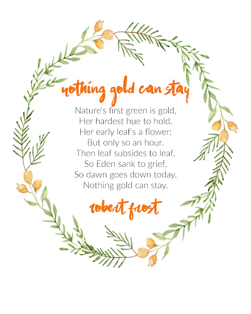 nothing gold can stay wall art