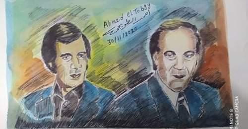 عبر الفنان  التشكيلى  المصرى البورسعيدى  احمد الطوبجى
