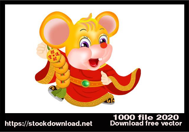 Vector Con chuột vàng free