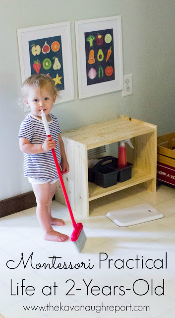 Montessori practical life ideas for 2-year-olds. What does practical life look like for toddlers? Here are some easy ideas for toddlers to help around the house.