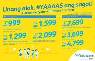 Cebu Pacific seat sale, Piso Fare