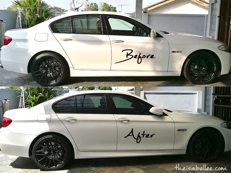 Car window tinting before after