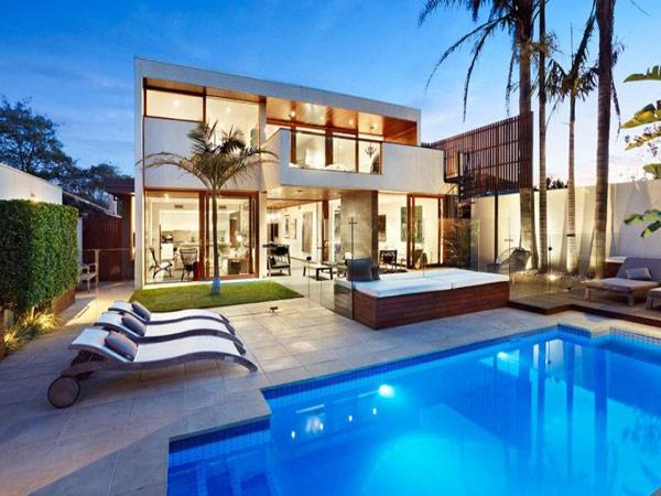 Hogares frescos moderna casa en australia viendo dise o - Porche casa moderna ...