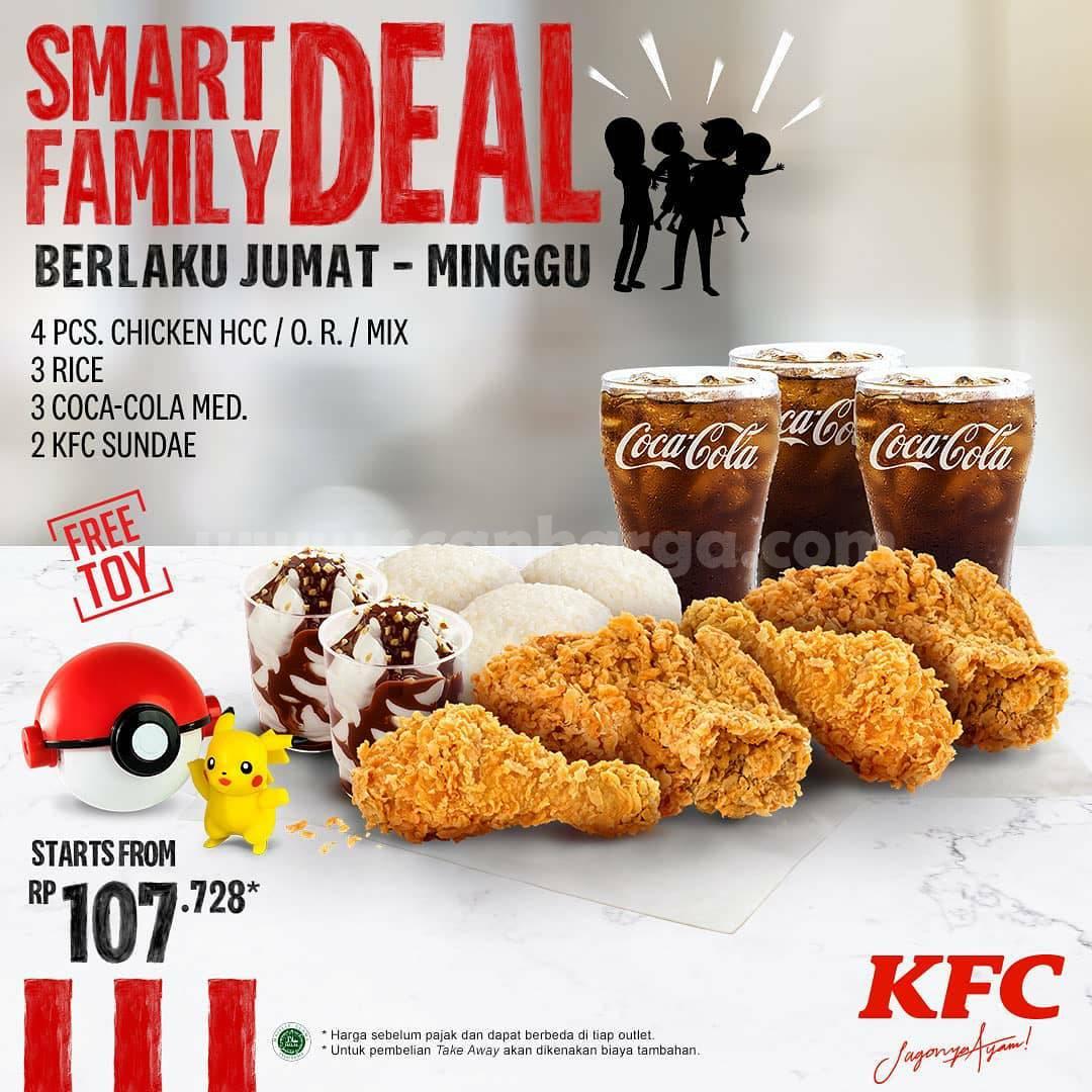 KFC Smart Family Deal + Gratis Mainan harga mulai Rp 107.728