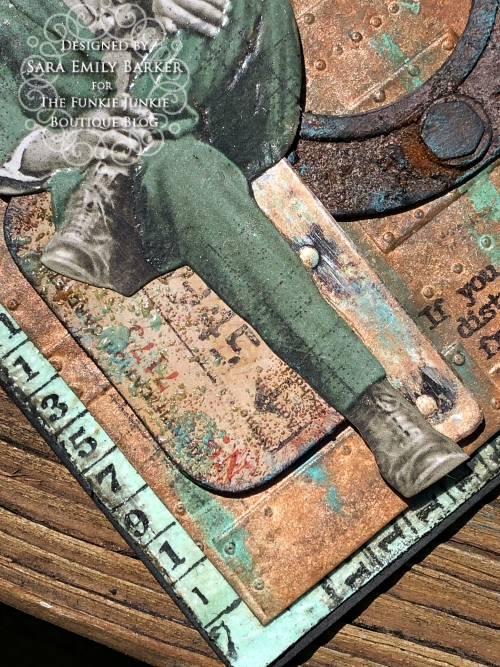 Sara Emily Barker https://sarascloset1.blogspot.com/2020/05/slightly-distracted-and-corroded.html Tim Holtz Masculine Mixed Media Card 5