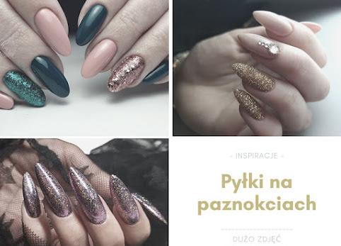 Pyłki do paznokci - efekty, inspiracje i zdjęcia paznokci z pyłkami.