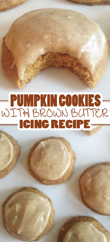 THE BEST #PUMPKIN #COOKIES WITH #BROWN #BUTTER #ICING #RECIPE