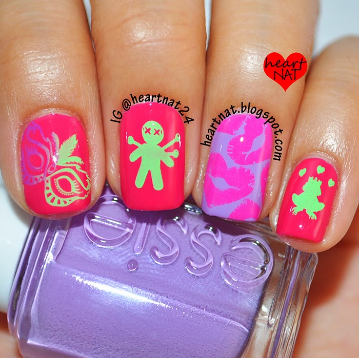 Disney Princess Tiana Waterfall Nail Art: Heartnat: Disney's The Princess & The Frog Inspired Nail Art