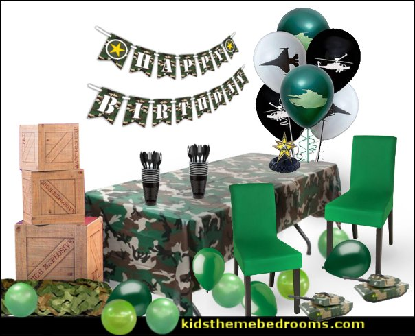 ARMY PARTY DECORATIONS army party decorations - Camouflage Party Supplies - army party ideas - Military party ideas for a boy birthday party - Army & Camouflage decorations - army party decoration ideas - army themed party - army costumes - Army Camo Party Supplies -