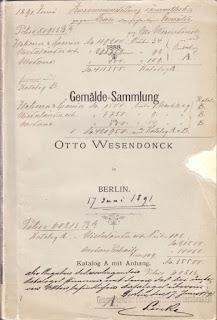 Otto Wesendonck: Gemälde-Sammlung von Otto Wesendonck in Berlin. Katalog A mit Anhang. Berlin 1888
