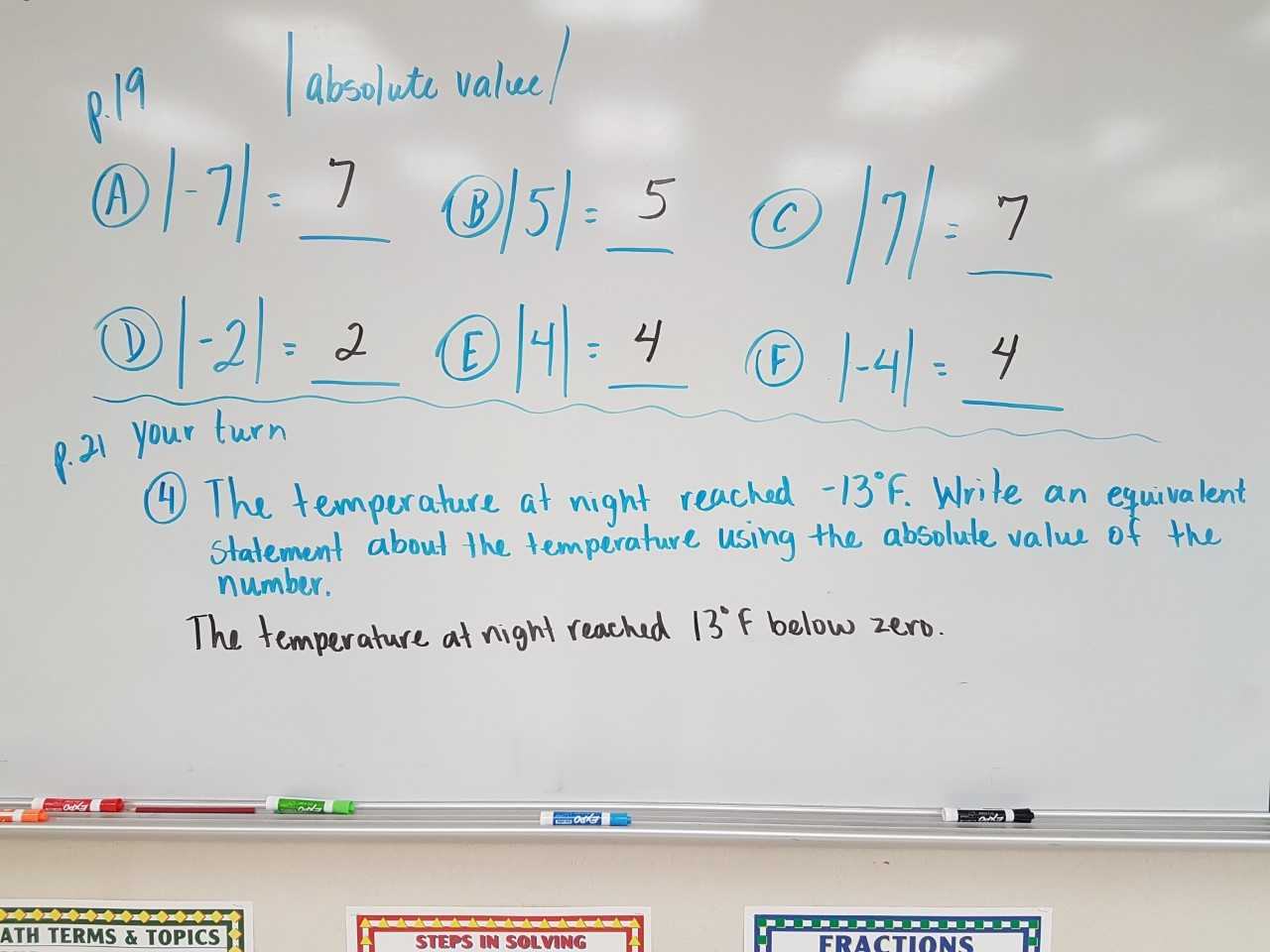 Mrs Negron 6th Grade Math Class Lesson 1 3 Absolute Value
