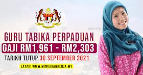 Jawatan Kosong Guru Tabika Perpaduan ~ Gaji RM1,961 - RM2,303 ~ Minima PMR/PT3 Layak Memohon