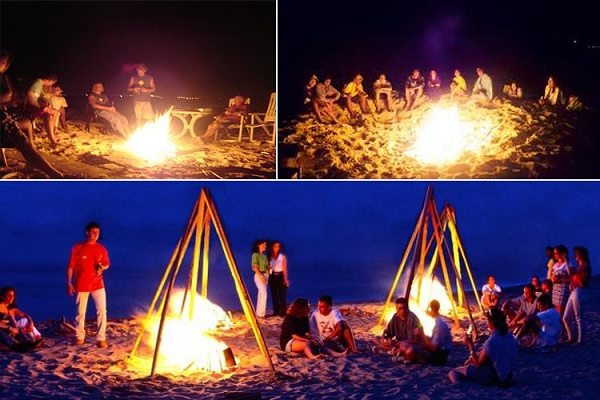 Tiệc nướng bên lửa trại