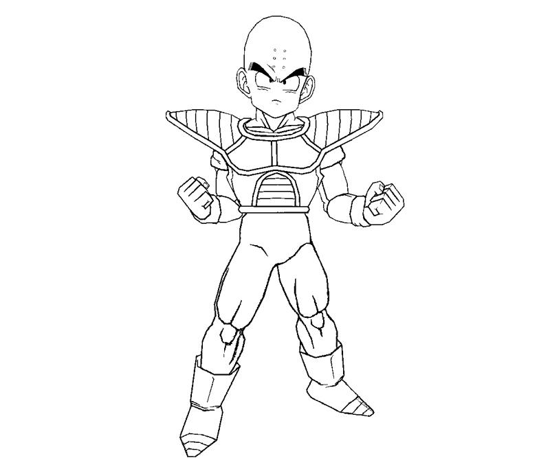 Krillin 9 Coloring Crafty Teenager