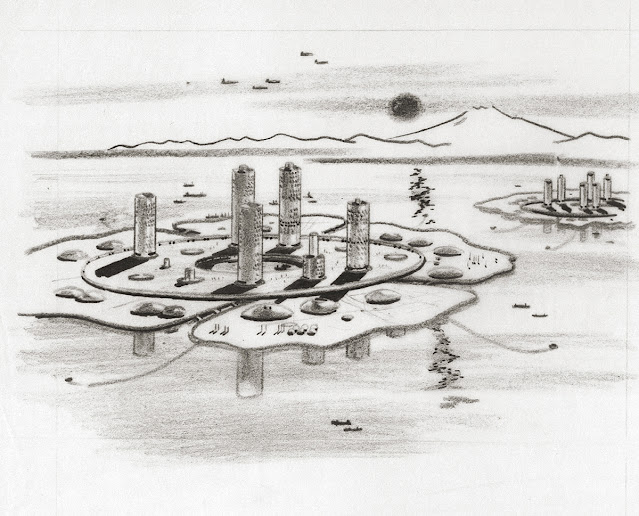 Marine City. Sketch. 1963.