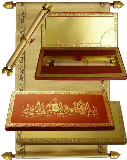 Indian Scroll Wedding Invitations So Pretty And