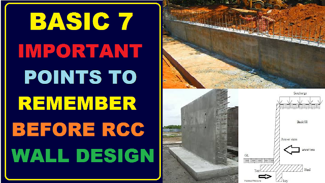 Basic Important Points to Remember Before RCC Wall Design as per IS 456:2000