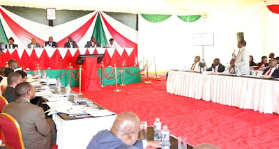 Deputy President William Ruto meets governors in Karen. PHOTO   BMS