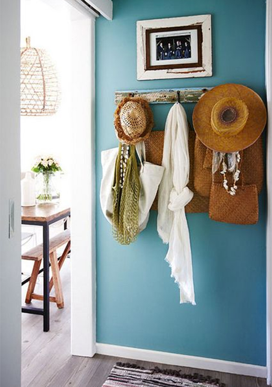 cabideiro, parede azul, a casa eh sua, acasaehsua, decor, home decor, home, interior